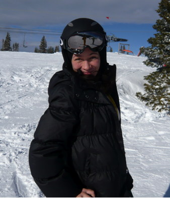 Tat in Ski Gear